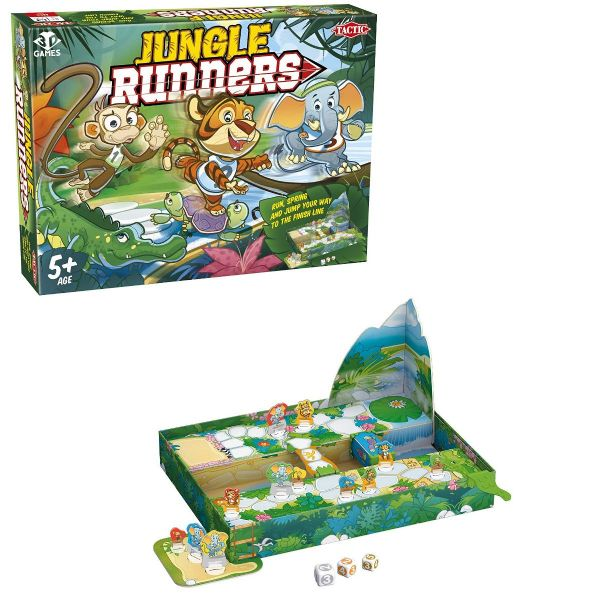 Jungle Runners Board Game - Family - Kids Game By Tactic Games